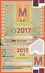 dálniční známka měsíční